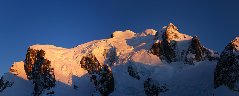 Sunrise on Mount Tutoko's south face