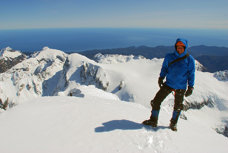 Danilo on the summit of Mount Tutoko