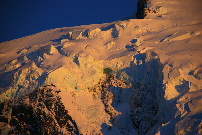 Séracs on the south face of Mount Tutoko