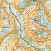 Rough route topo - 1 grid square = 1km