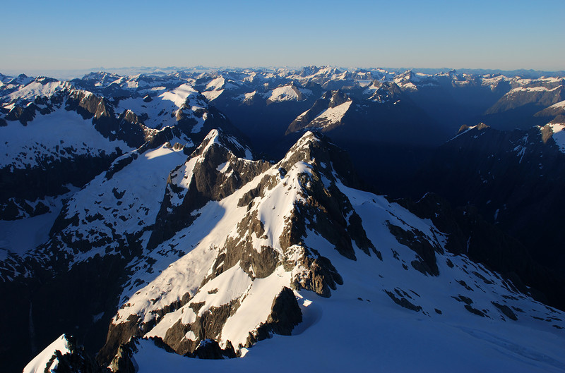 View from the summit of Mt Madeline, looking south