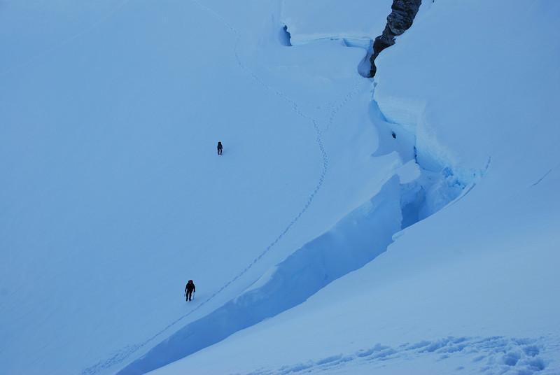 Mt Madeline bergschrund