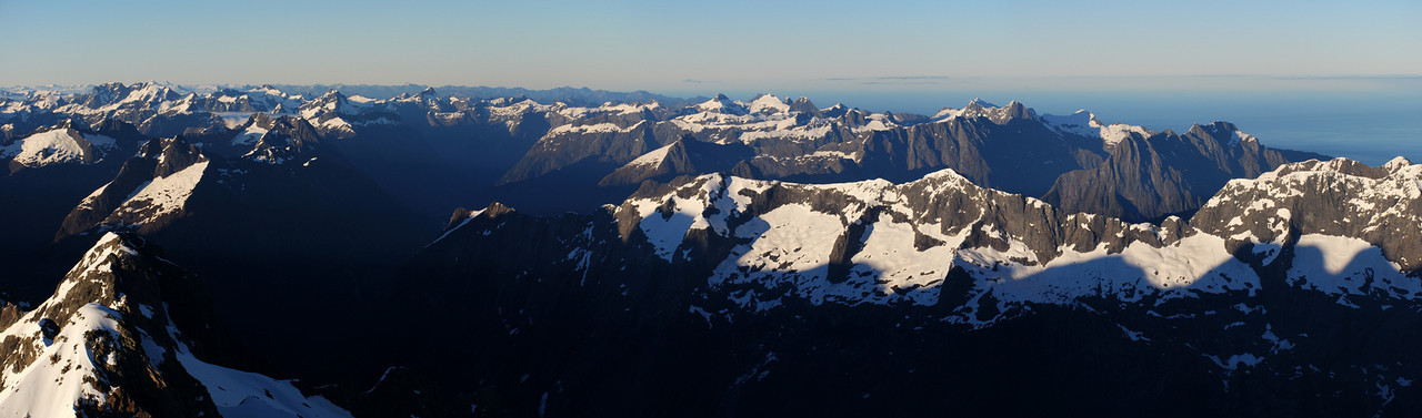 Panorama from the summit of Mt Madeline, looking south-west