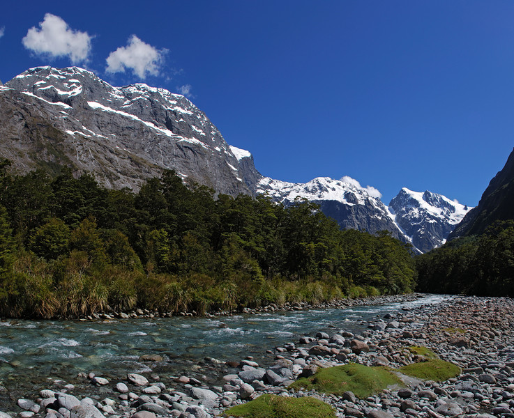 Tutoko River, Grave Couloir and Paranui Peak