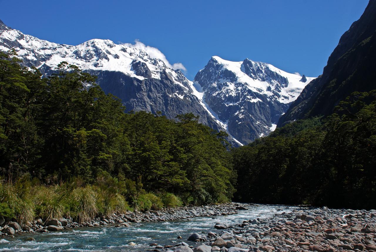 Tutoko River, Grave Couloir and Paranui Peak