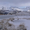 Frozen tarns above the Routeburn Track