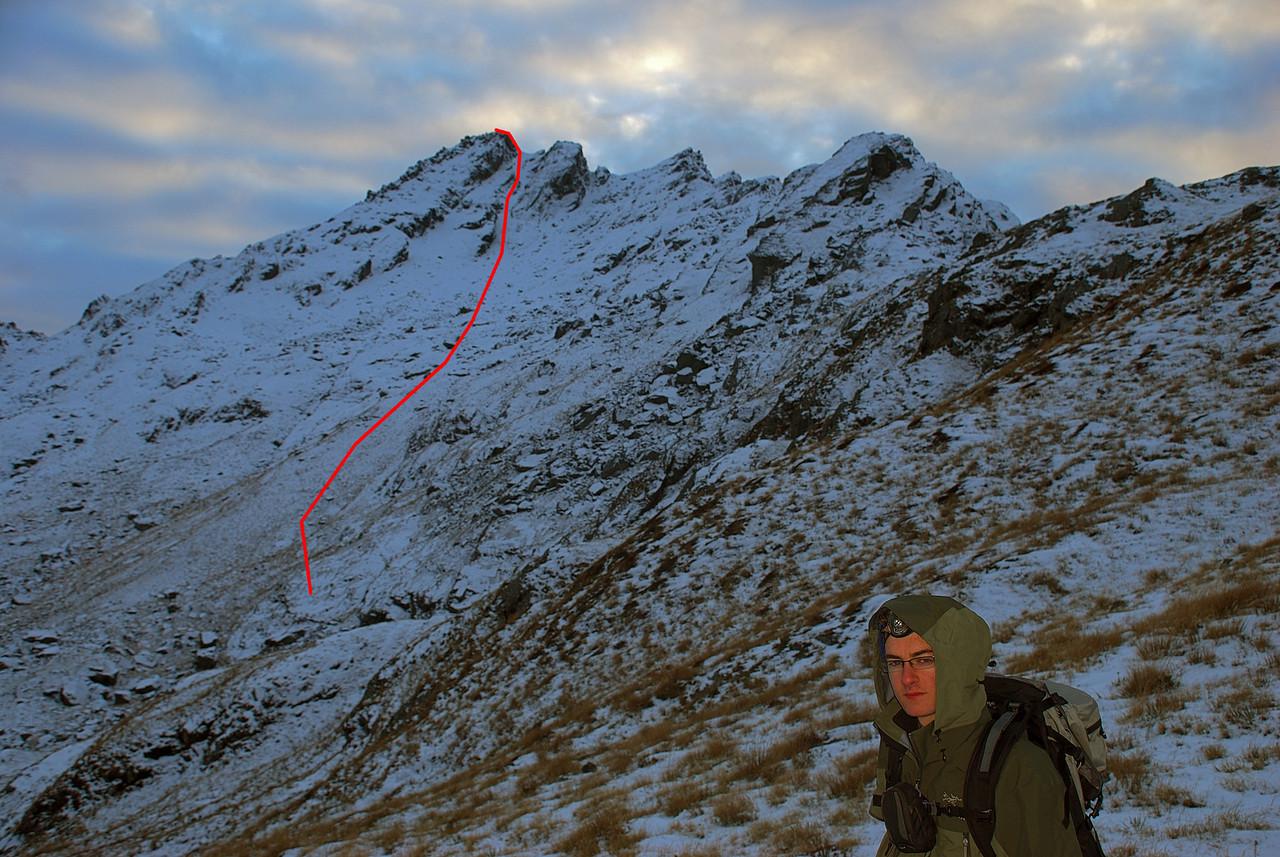 Ocean Peak route topo