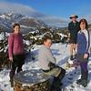 The team on Key Summit. Jean Batten Peak behind