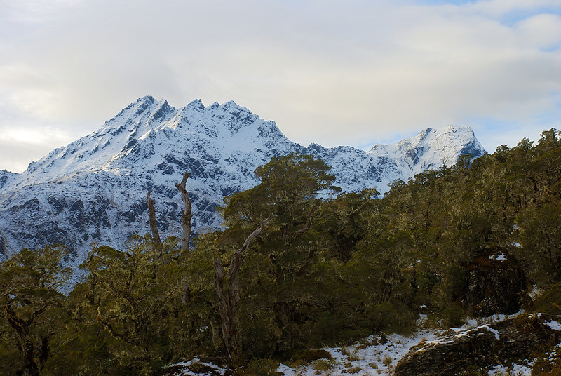 Ocean Peak and F-Knob from the Routeburn Track south of Lake MacKenzie