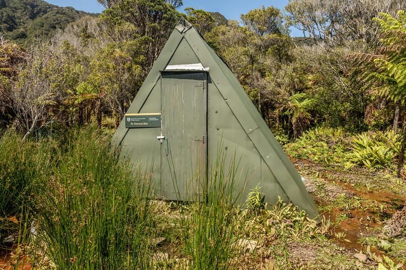 Te Oneroa A-Frame Hut. Preservation Inlet, Fiordland National Park.
