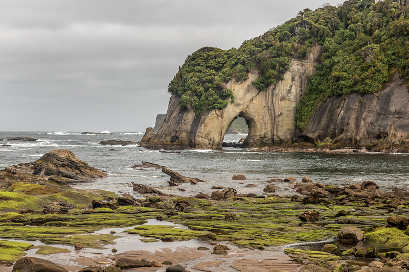 Coastline at the mouth of Digger Creek. Puysegur Point, Fiordland National Park.