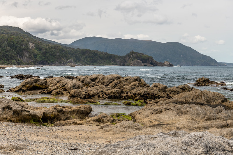 Coastline at the mouth of the Andrew Burn, looking east. Fiordland National Park.