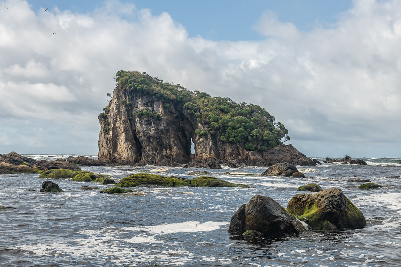 Coastline at Long Reef. South Coast, Fiordland National Park.