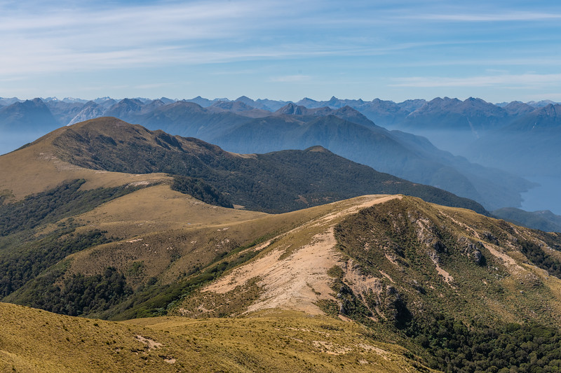 View north-east from Treble Mountain into the Dark Cloud Range