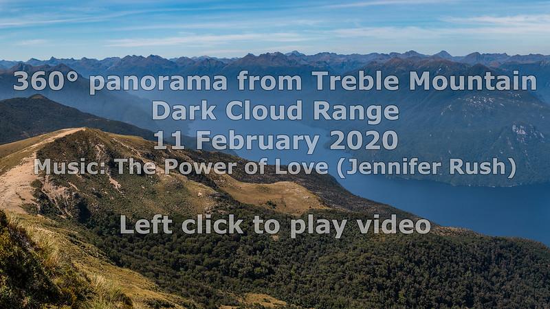 360° panorama from Treble Mountain, Dark Cloud Range