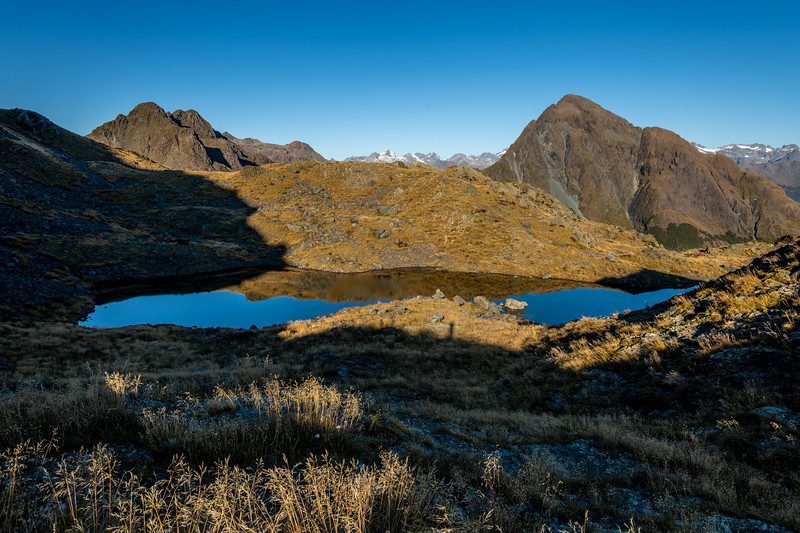 Tarn north of Pt 1290m. Skippers Range, Fiordland National Park.