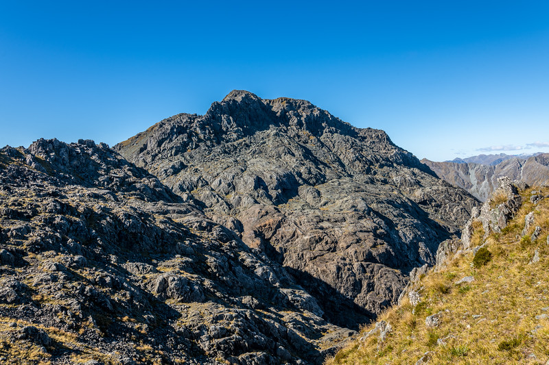 Pt 1507m from the South. Skippers Range, Fiordland National Park.