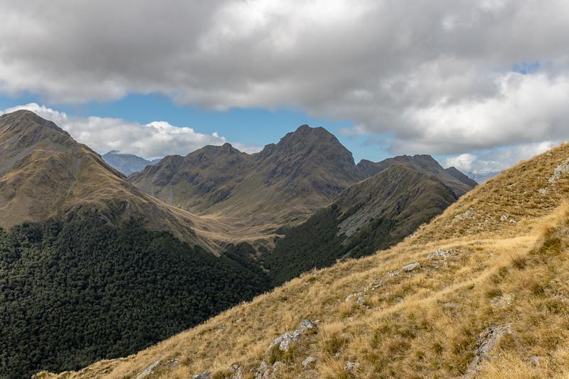 Pt 1552m. Skippers Range, Fiordland National Park.