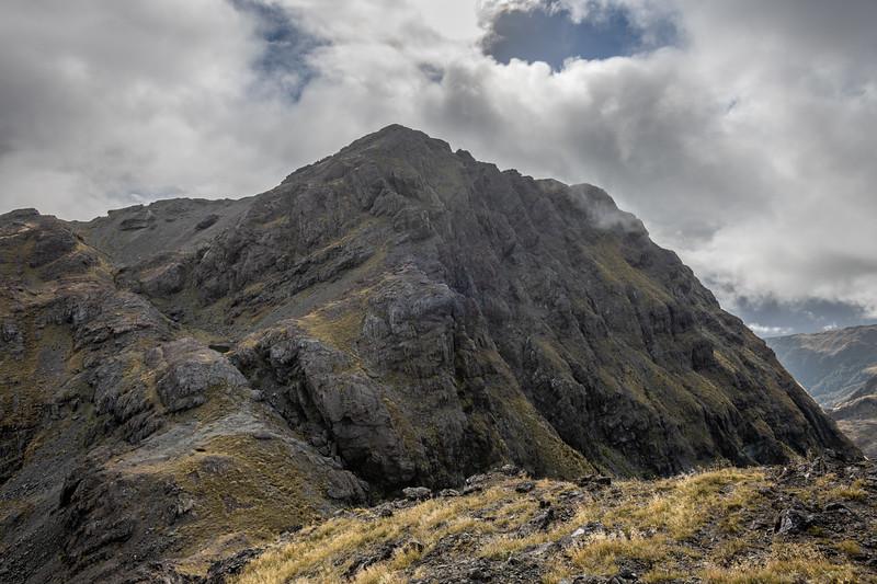 Point 1552m from Pt 1445m. Skippers Range, Fiordland National Park.