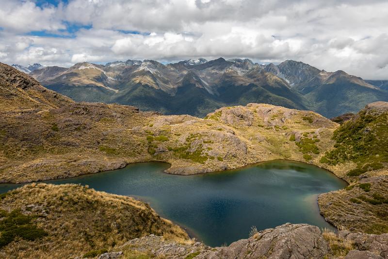 Lake Mantle. Skippers Range, Fiordland National Park.