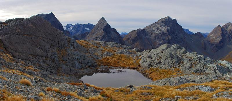 F-Knob, Emily Peak and unnamed peak 1952m, Humboldt Mountains. Magic country!