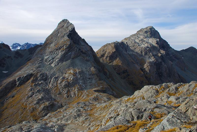 Emily Peak and unnamed peak 1952m, Humboldt Mountains