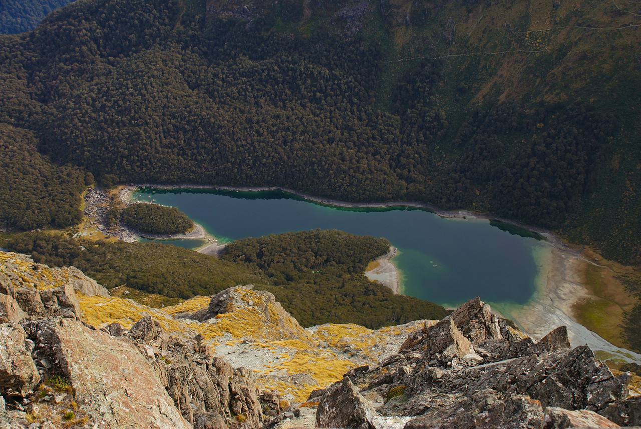 Lake MacKenzie from the summit of unnamed peak 1821m