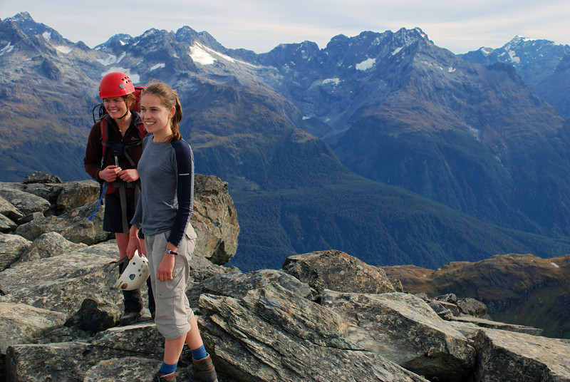 Claire and Gwenn on the summit of unnamed peak 1821m