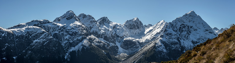 View of the Ailsa Mountains. Unnamed Peak Pt 1945m is at centre image; Pt 1760m is on the right