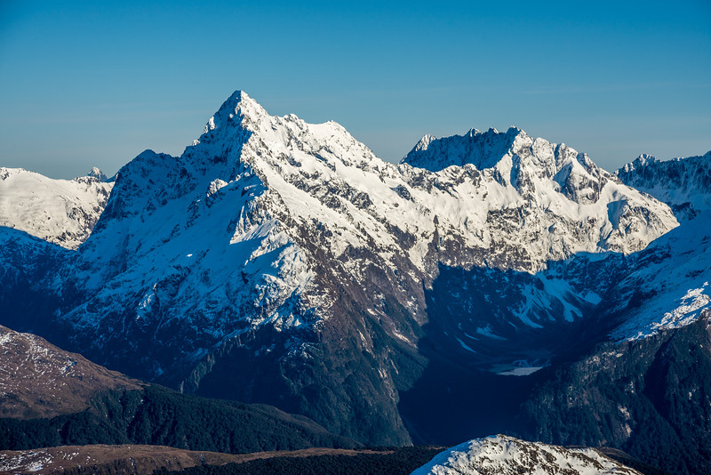 View from Pt 2024m: Mount Christina and Mount Crosscut