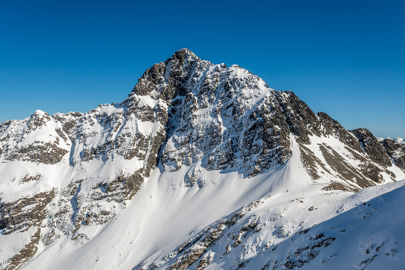 The east face of Jean Batten Peak - unclimbed