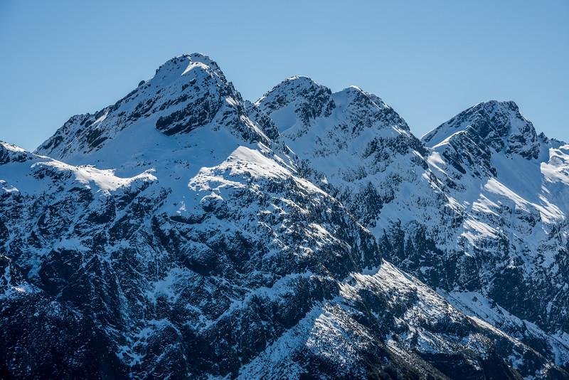Ailsa Mountains - unnamed peaks Pt 1665m, Pt 1695m, Pt 1777m