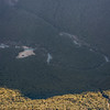 Looking down onto Upper Caples Hut from Pt 2024m.