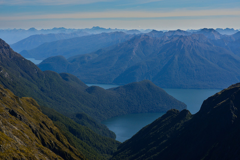 View of Lake Te Anau from Triton Peak