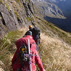 "Descent to Hut Creek - ""sidle immediately below bluffs"""