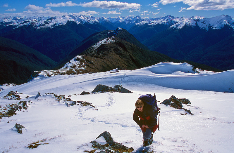 Climbing Mt Ramsay