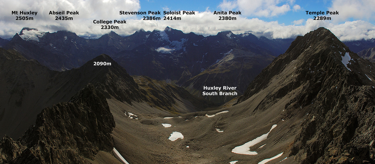 Panorama from the summit of Belfry Peak (looking north)