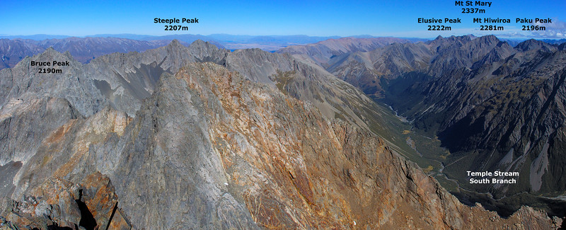 Panorama from the summit of Belfry Peak (looking south)