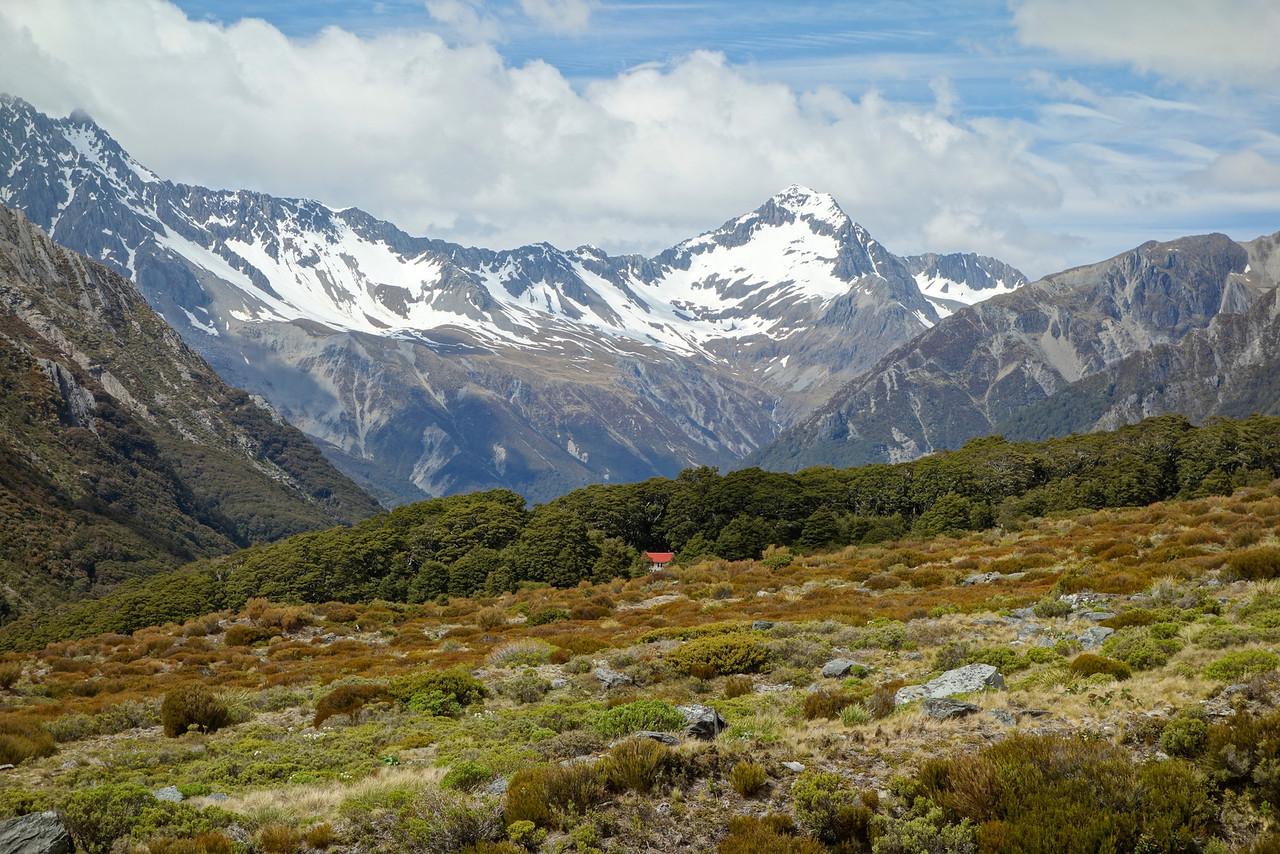 Brodrick Hut and Temple Peak