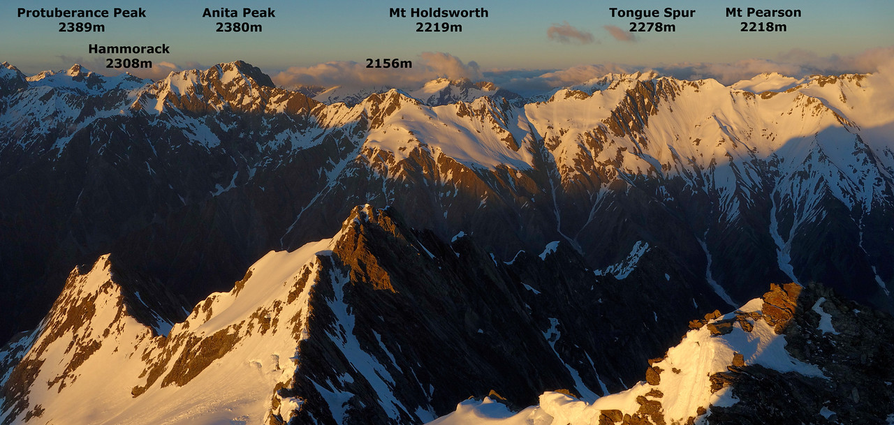 View south from the summit of Boanerges