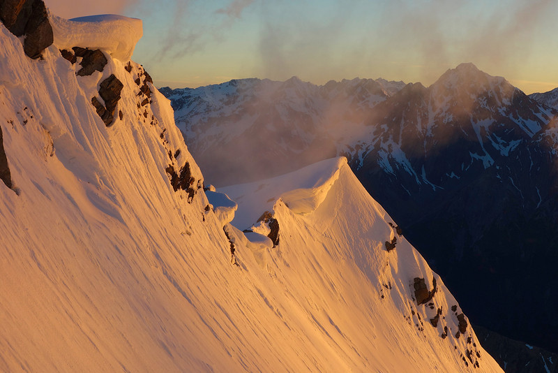 The summit ridge of Boanerges at sunrise