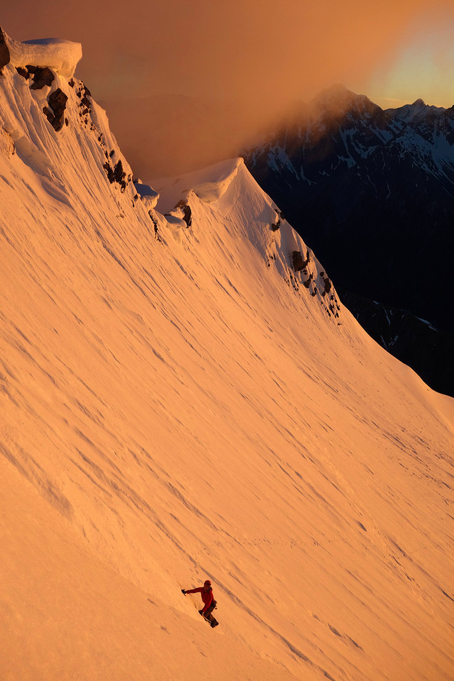 Approaching the summit of Boanerges at sunrise