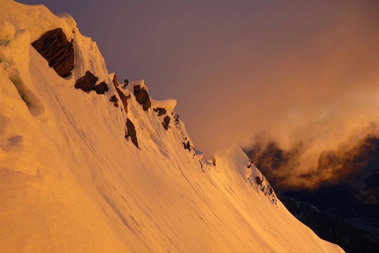 The summit ridge of Boanerges at sunrise