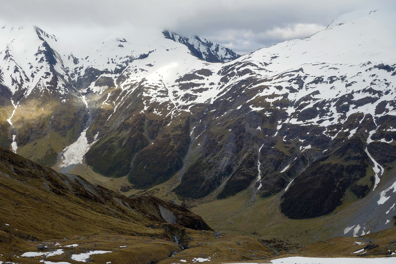 Brodrick Pass from the slopes of Boanerges