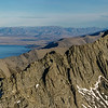 Panorama from the summit of Bruce Peak: Lake Ohau and Steeple Peak