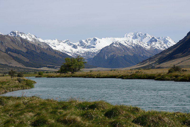 Ahuriri wetlands and Mt Barth