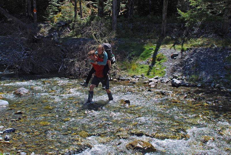 Crossing Little Canyon Creek