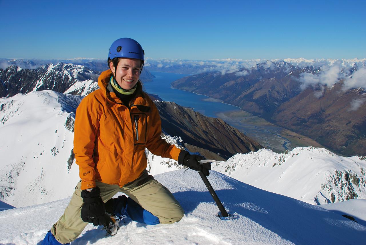 Gwenn on the summit of Celtic Peak