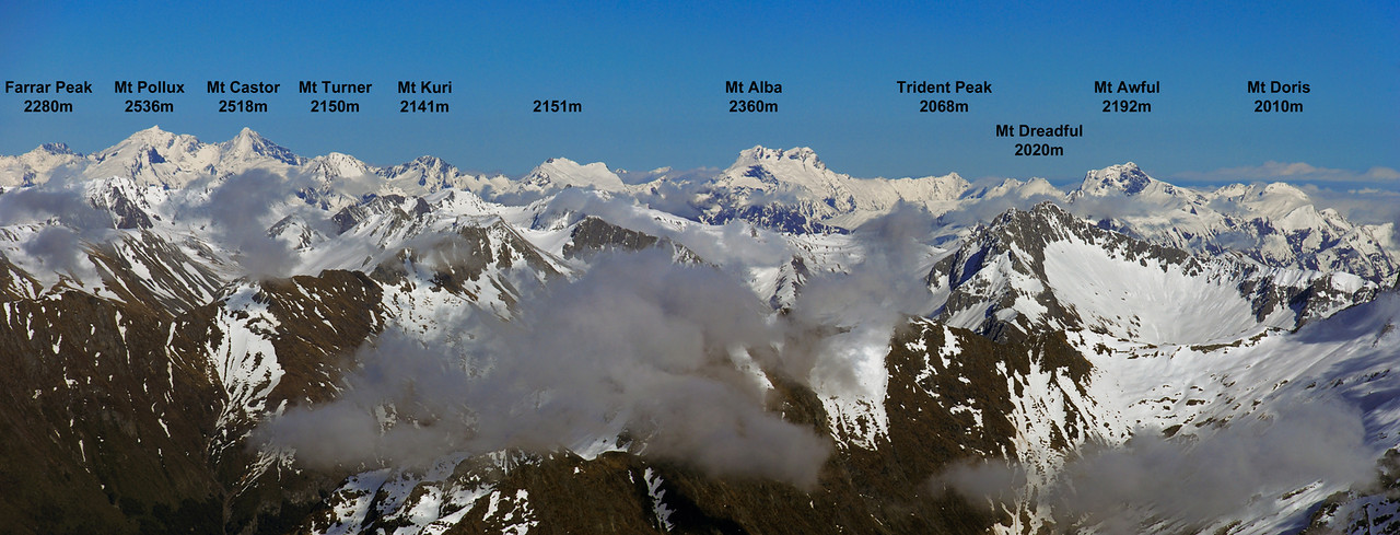 Panorama from the summit of Celtic Peak.