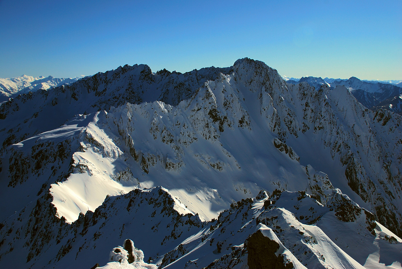 View of Highlander Peak from the summit of Celtic Peak